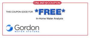 Gordon Water Coupon