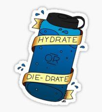 A hydrate or die-drate cartoon image.